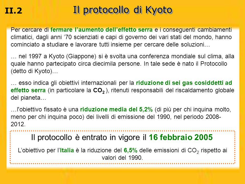 Il protocollo di Kyoto II.2