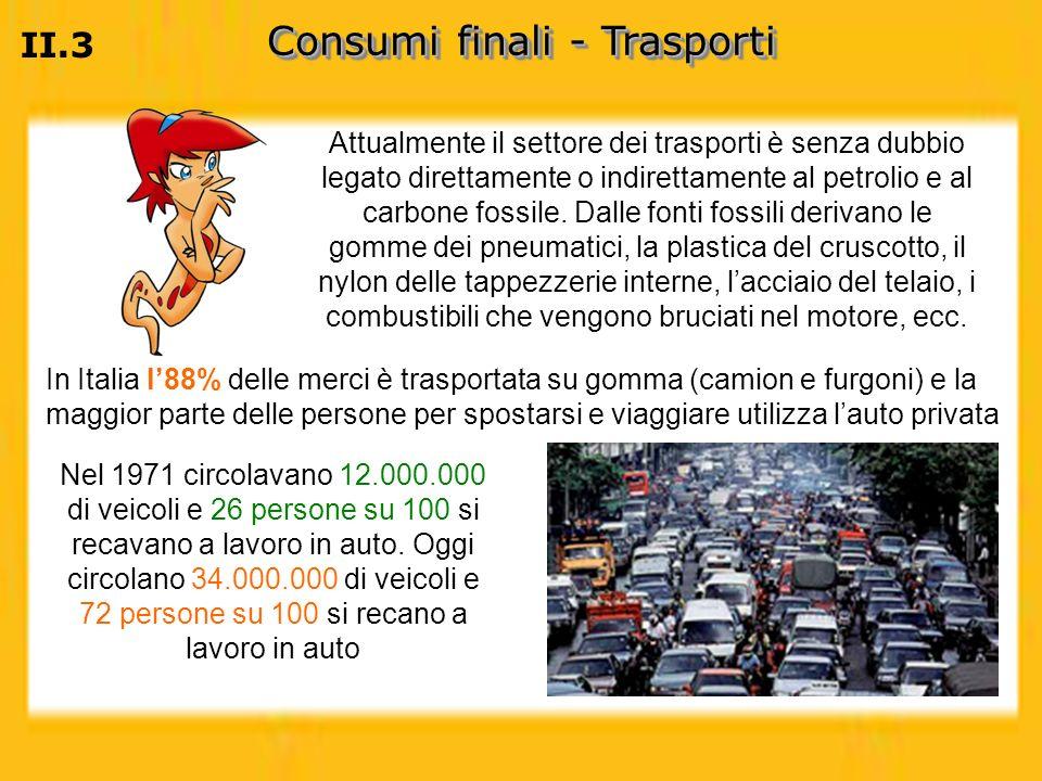 Consumi finali - Trasporti