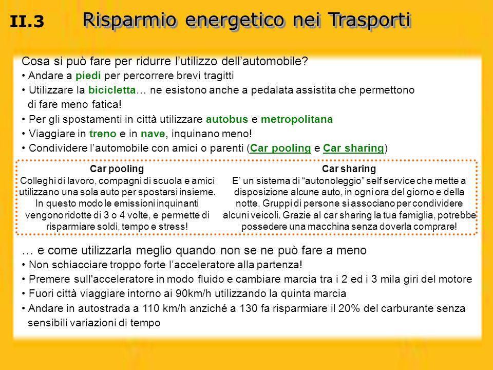 Risparmio energetico nei Trasporti