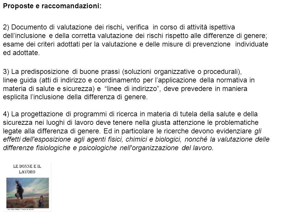 Proposte e raccomandazioni: