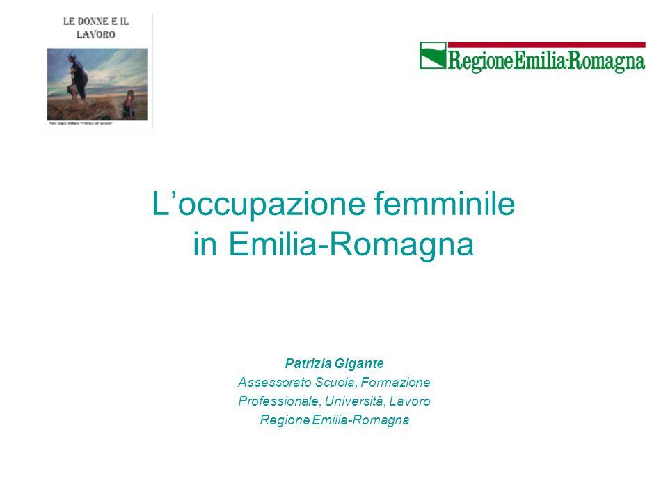 L'occupazione femminile in Emilia-Romagna