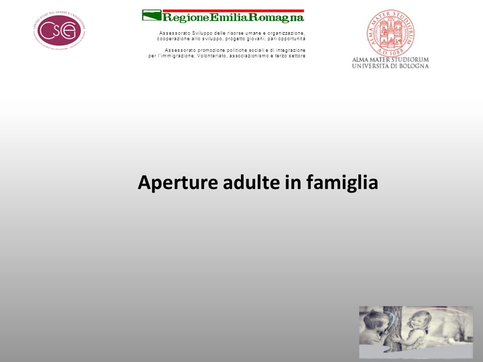 Aperture adulte in famiglia