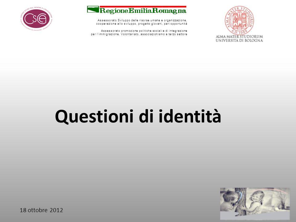 Questioni di identità 18 ottobre 2012