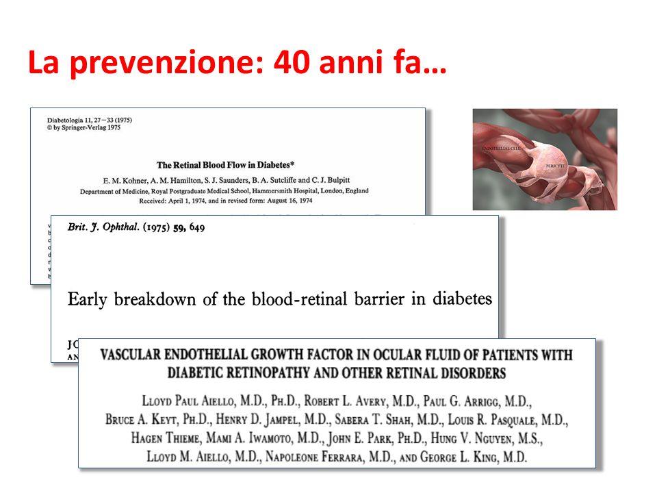La prevenzione: 40 anni fa…