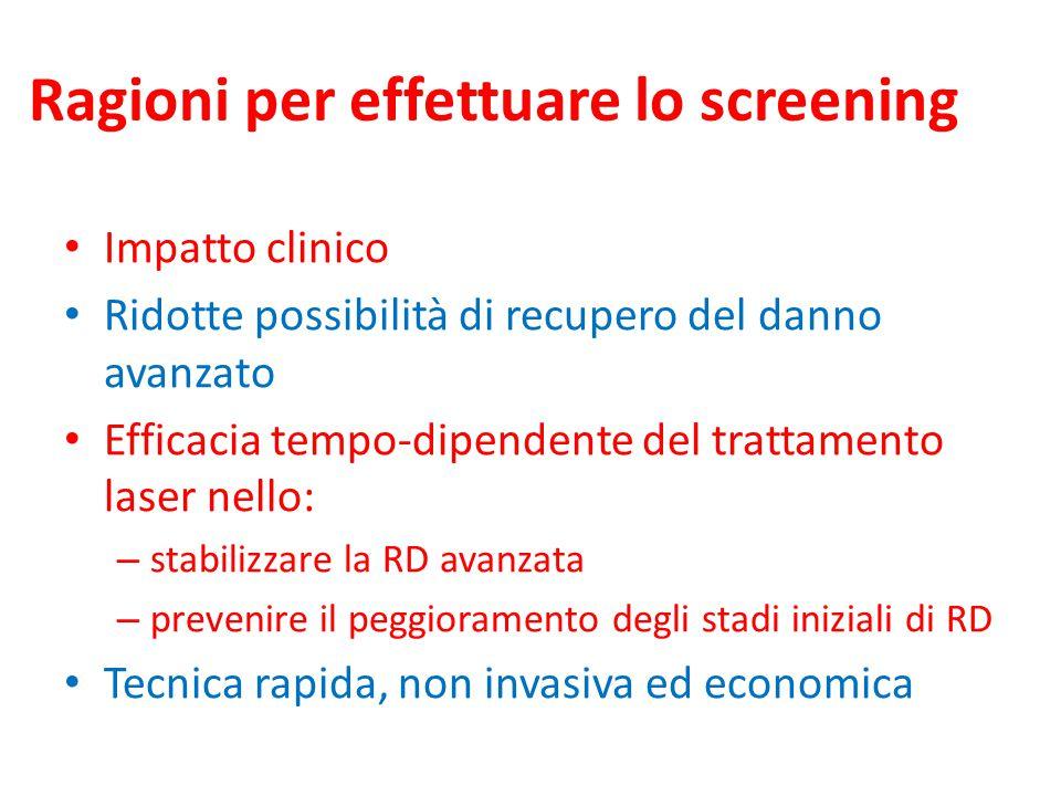 Ragioni per effettuare lo screening
