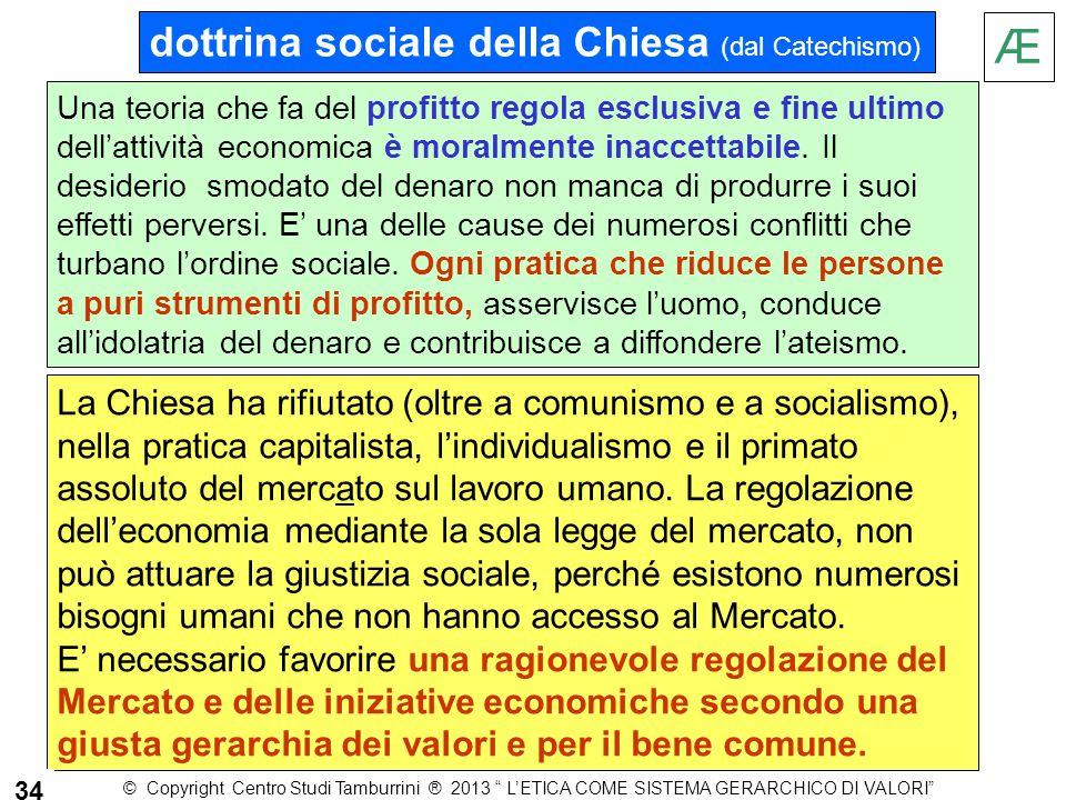 Æ dottrina sociale della Chiesa (dal Catechismo)