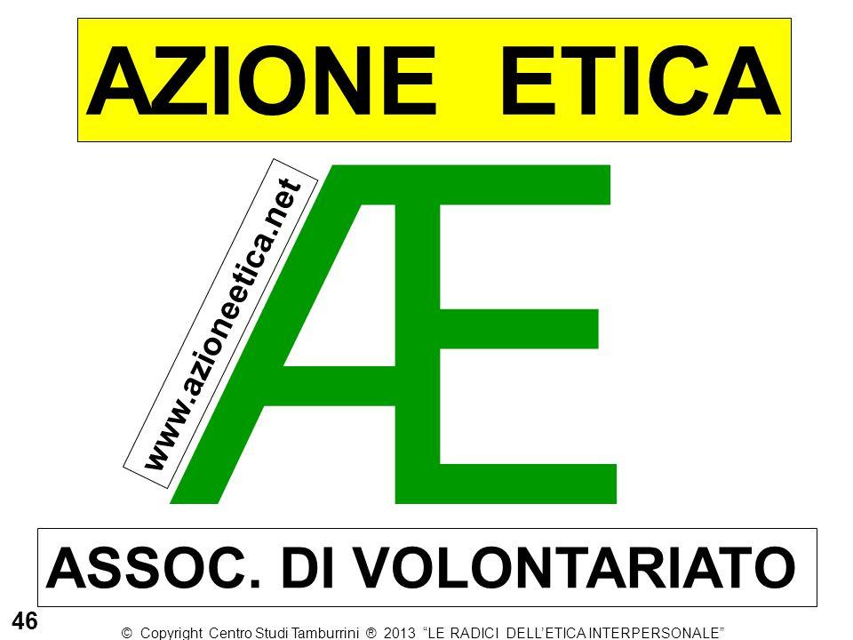 Æ AZIONE ETICA ASSOC. DI VOLONTARIATO www.azioneetica.net 46