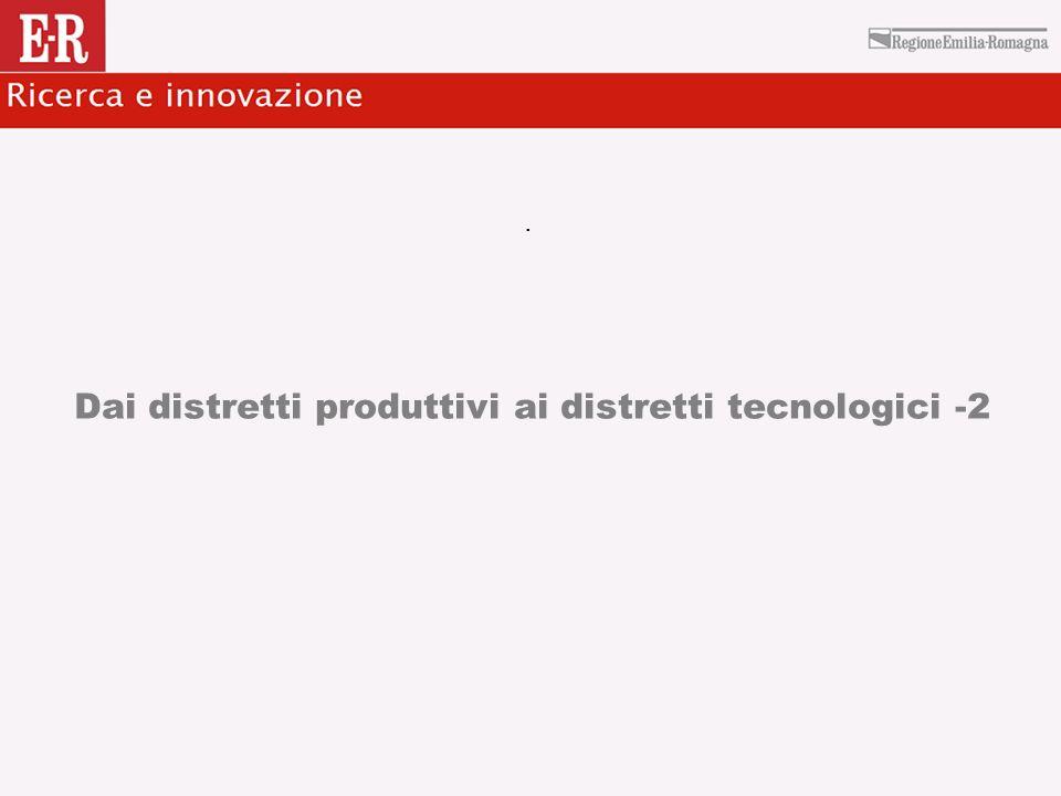 Dai distretti produttivi ai distretti tecnologici -2