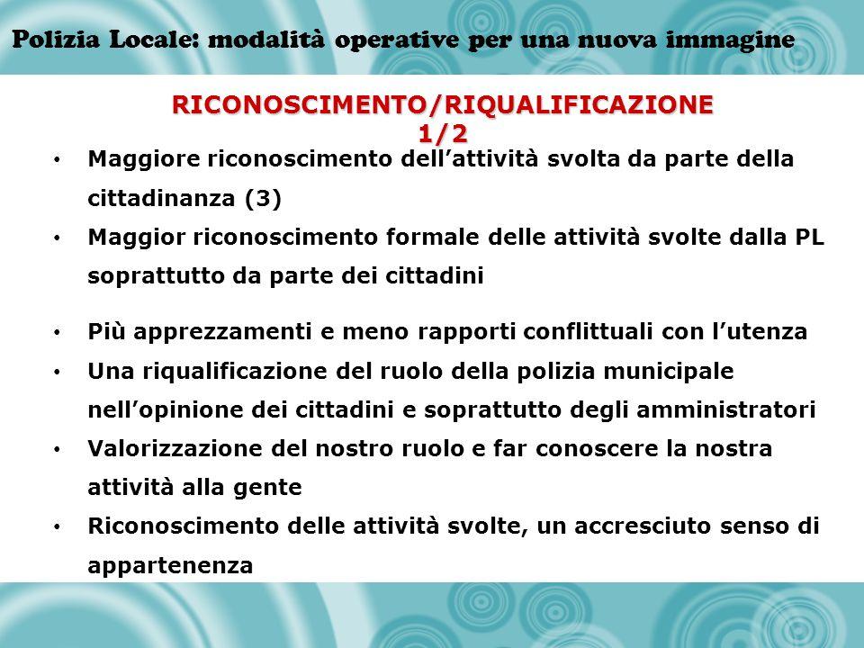 RICONOSCIMENTO/RIQUALIFICAZIONE 1/2