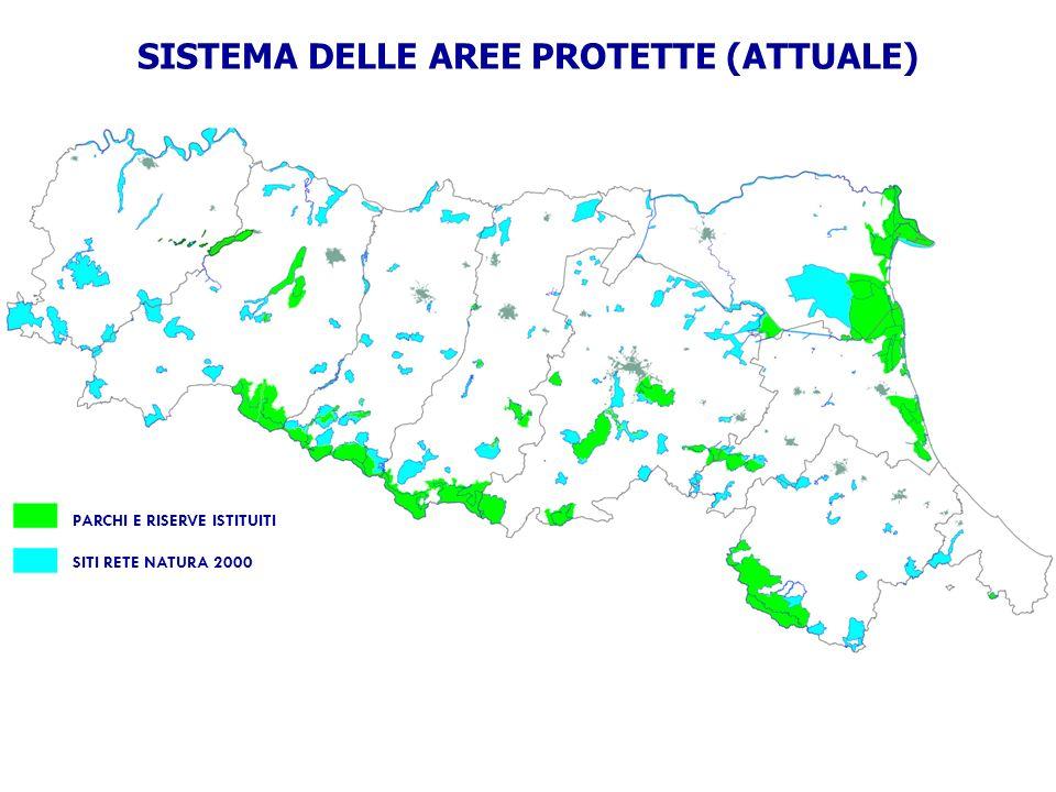 SISTEMA DELLE AREE PROTETTE (ATTUALE)