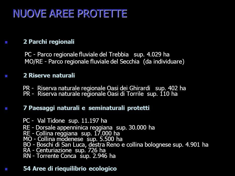NUOVE AREE PROTETTE 2 Parchi regionali
