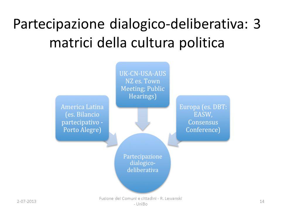 Fusione dei Comuni e cittadini - R. Lewanski - UniBo