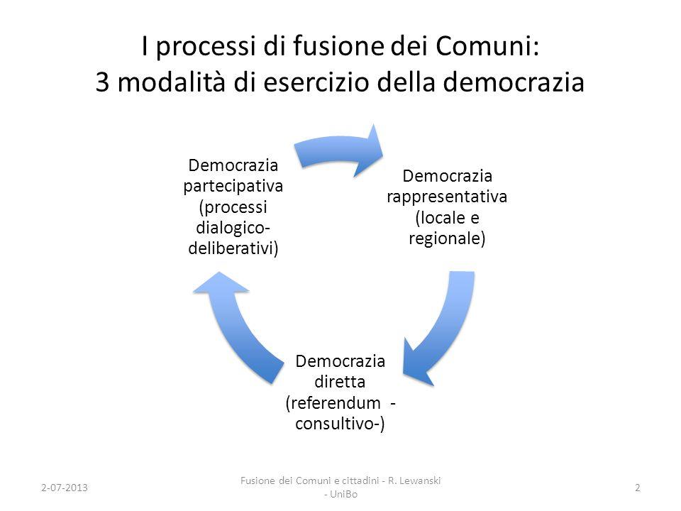 I processi di fusione dei Comuni: 3 modalità di esercizio della democrazia