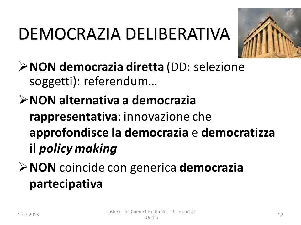 DEMOCRAZIA DELIBERATIVA
