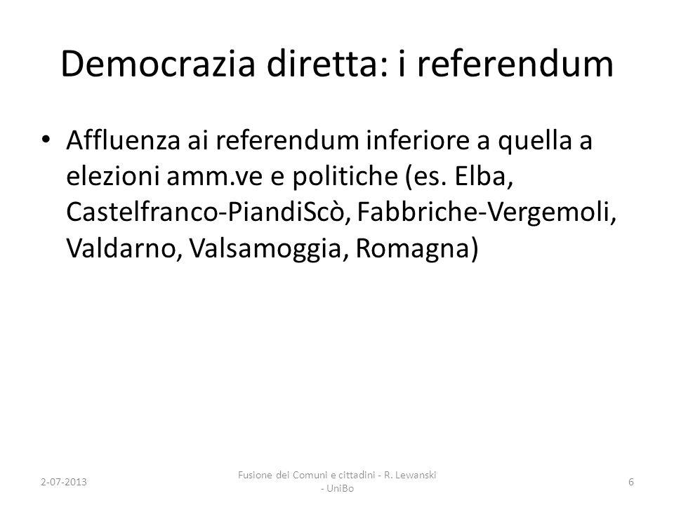 Democrazia diretta: i referendum