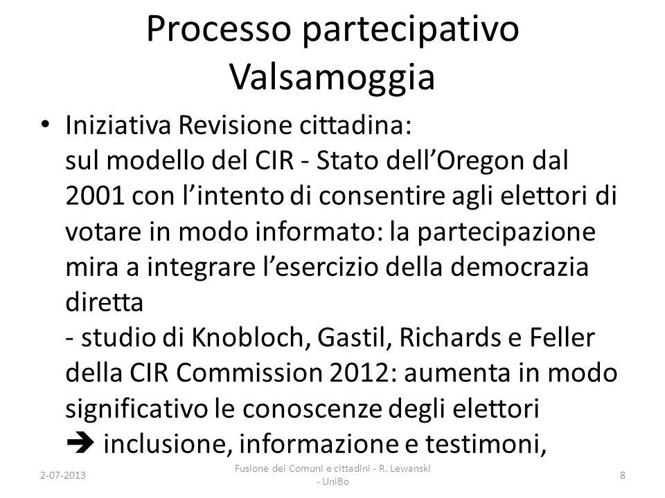 Processo partecipativo Valsamoggia