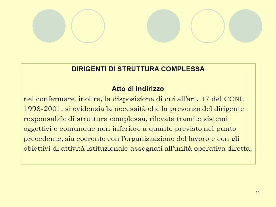 DIRIGENTI DI STRUTTURA COMPLESSA