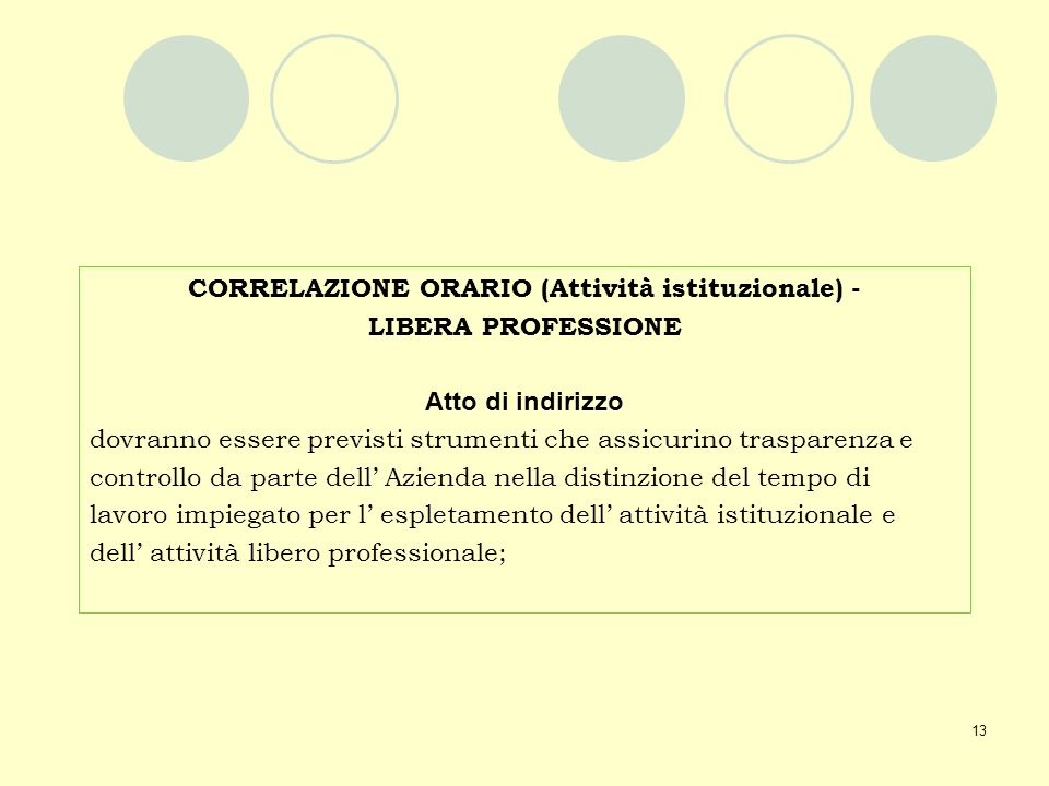 CORRELAZIONE ORARIO (Attività istituzionale) -
