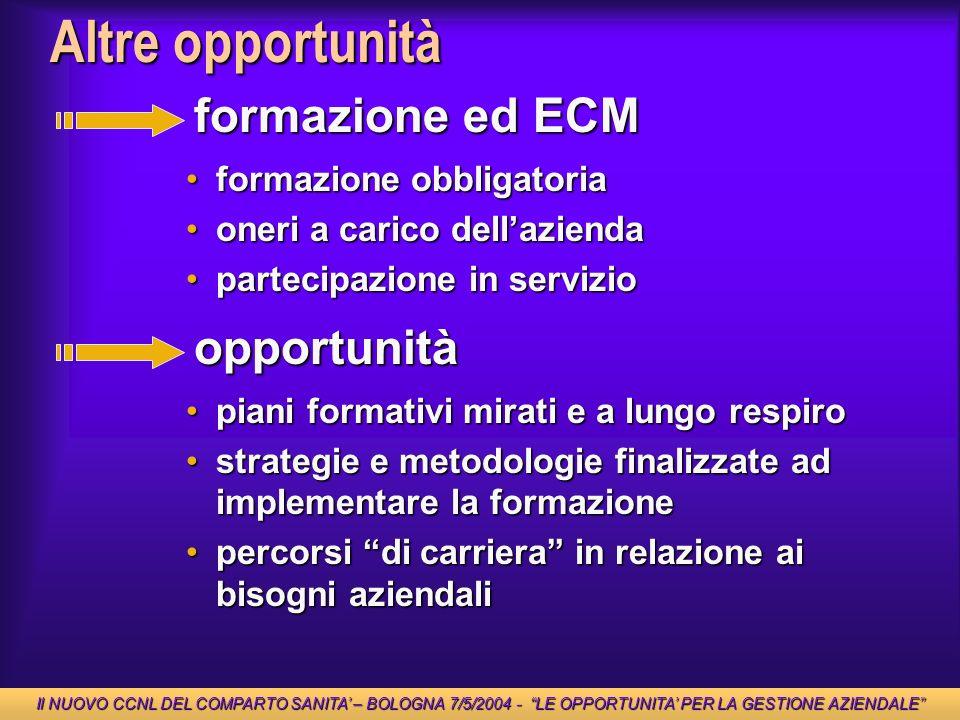 Altre opportunità formazione ed ECM opportunità