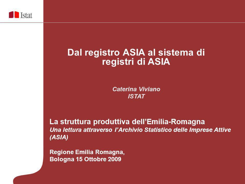 Dal registro ASIA al sistema di registri di ASIA