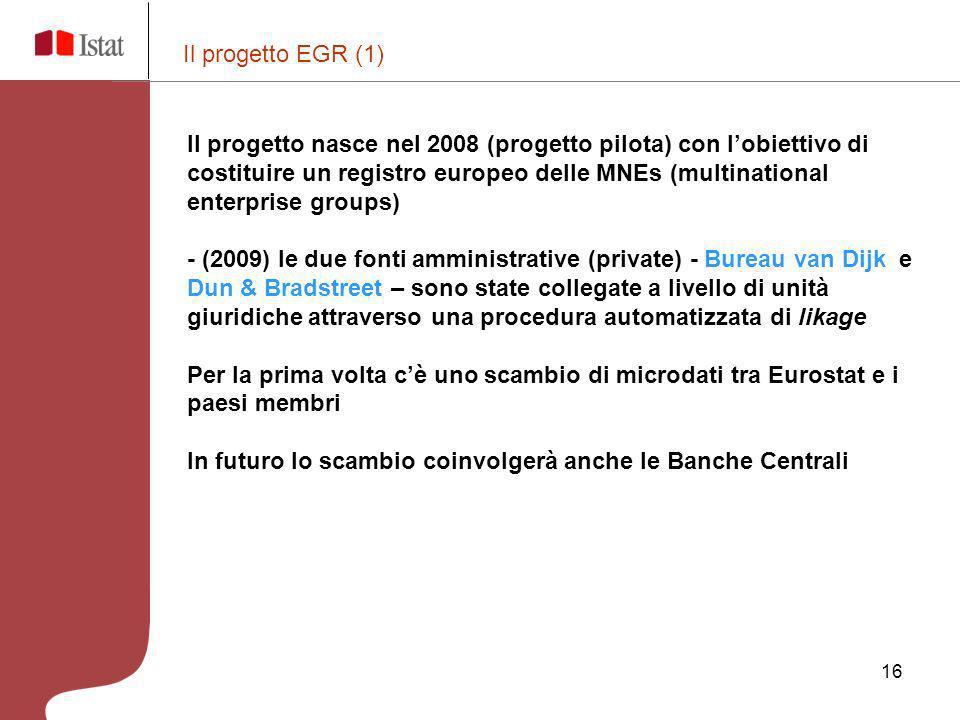 Il progetto EGR (1)
