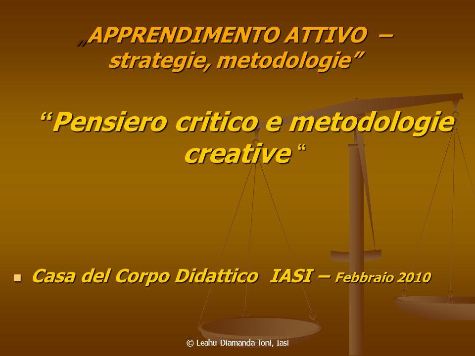 """""""APPRENDIMENTO ATTIVO – strategie, metodologie"""