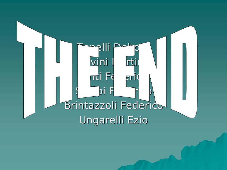 THE END Tonelli Debora Sevini Martina Tinti Federico Sterpi Federico