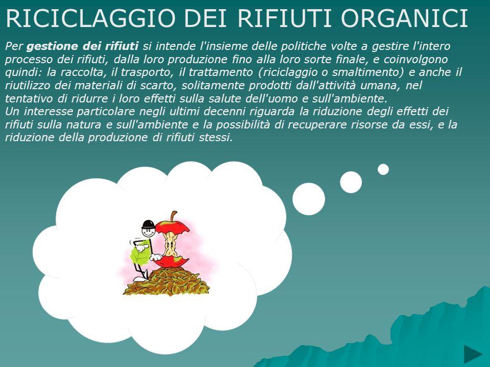 RICICLAGGIO DEI RIFIUTI ORGANICI