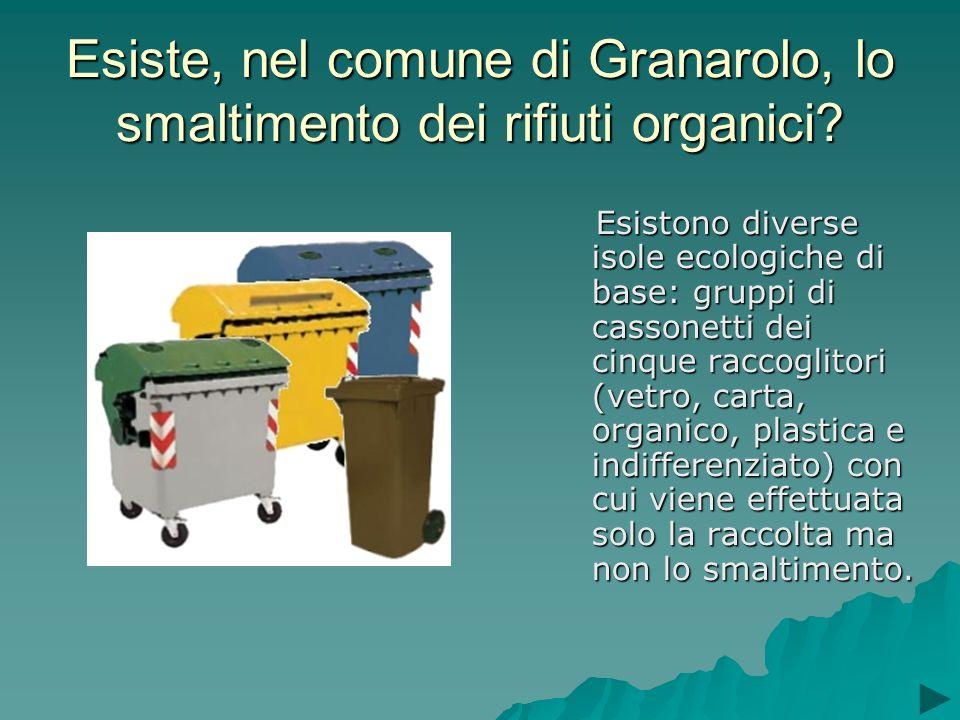 Esiste, nel comune di Granarolo, lo smaltimento dei rifiuti organici