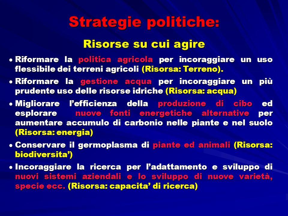 Strategie politiche: Risorse su cui agire