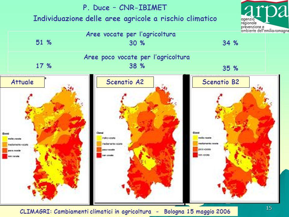 Individuazione delle aree agricole a rischio climatico