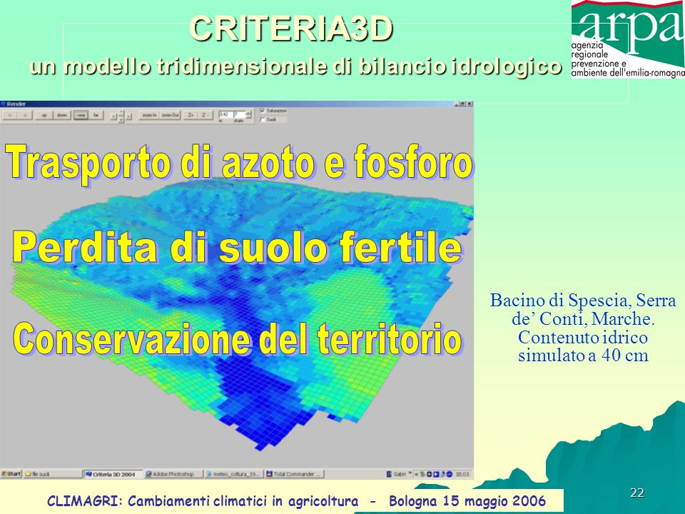 CRITERIA3D un modello tridimensionale di bilancio idrologico
