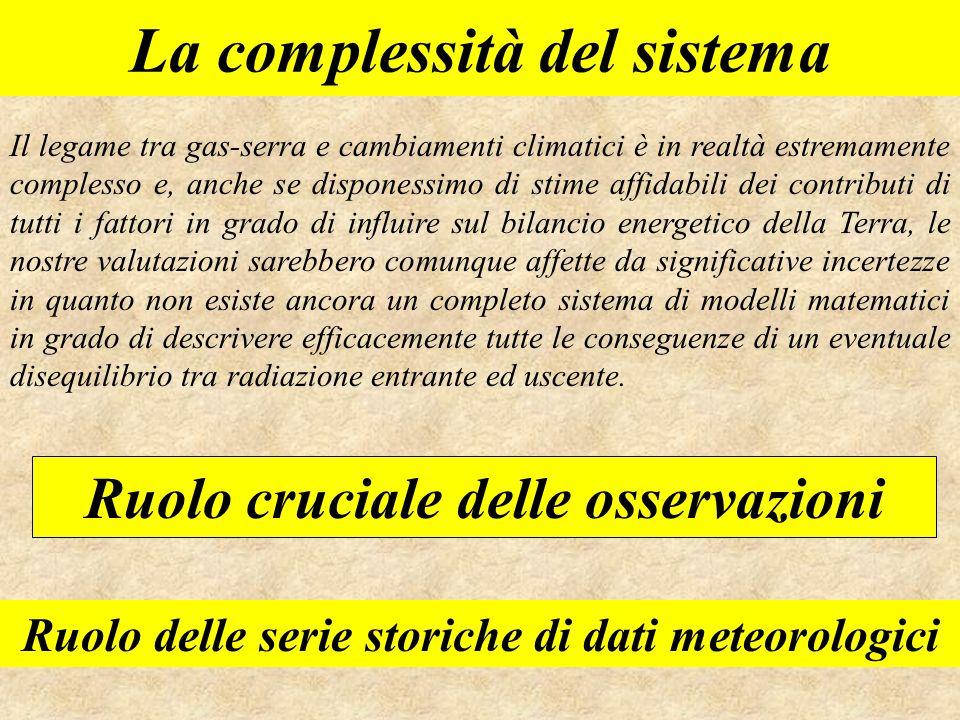 La complessità del sistema