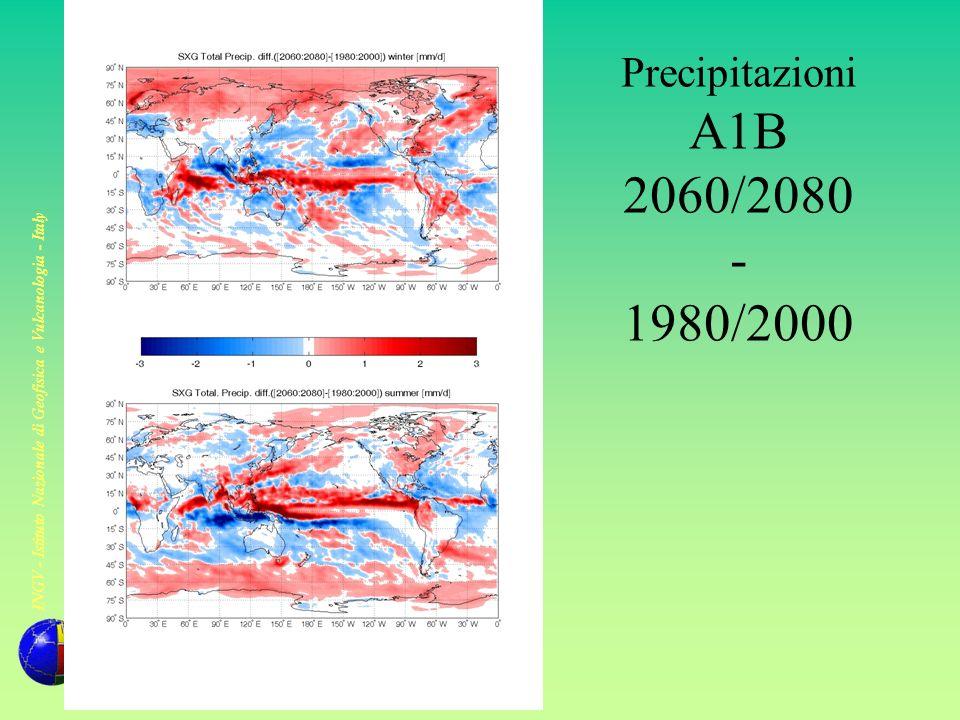 Precipitazioni A1B 2060/2080 - 1980/2000