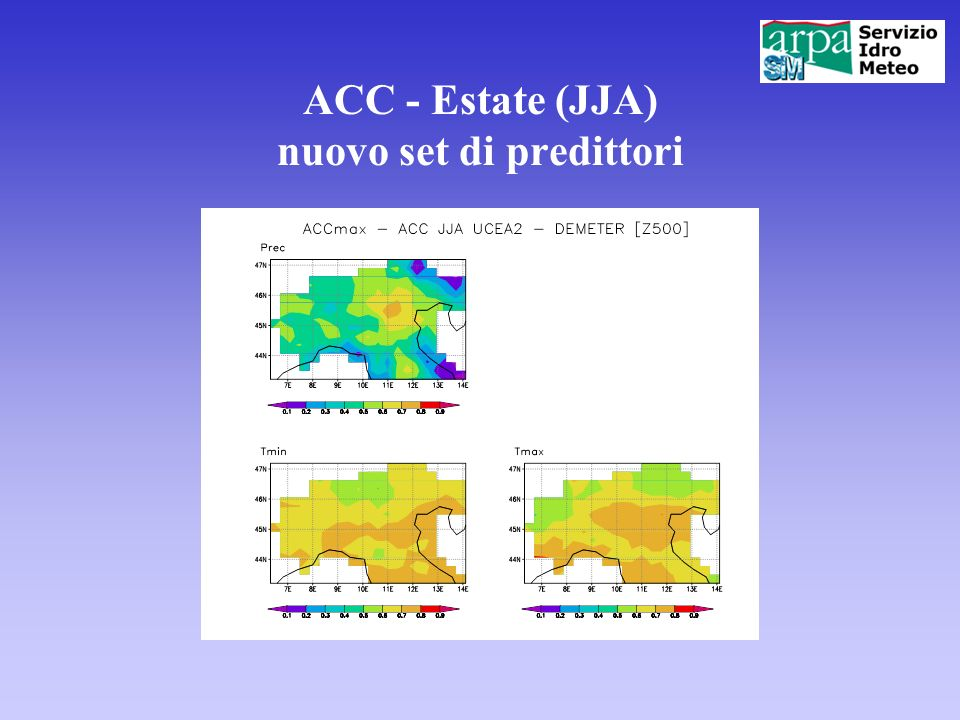 ACC - Estate (JJA) nuovo set di predittori