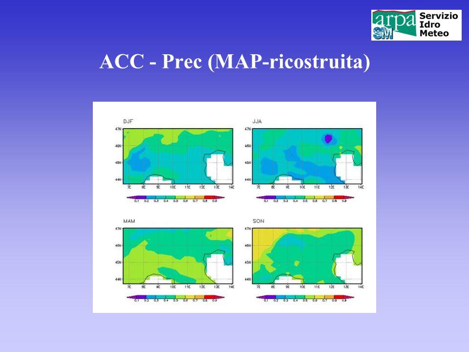 ACC - Prec (MAP-ricostruita)