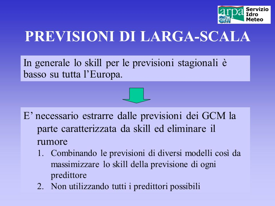 PREVISIONI DI LARGA-SCALA
