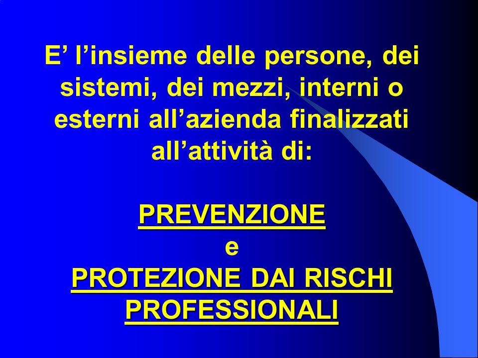PROTEZIONE DAI RISCHI PROFESSIONALI