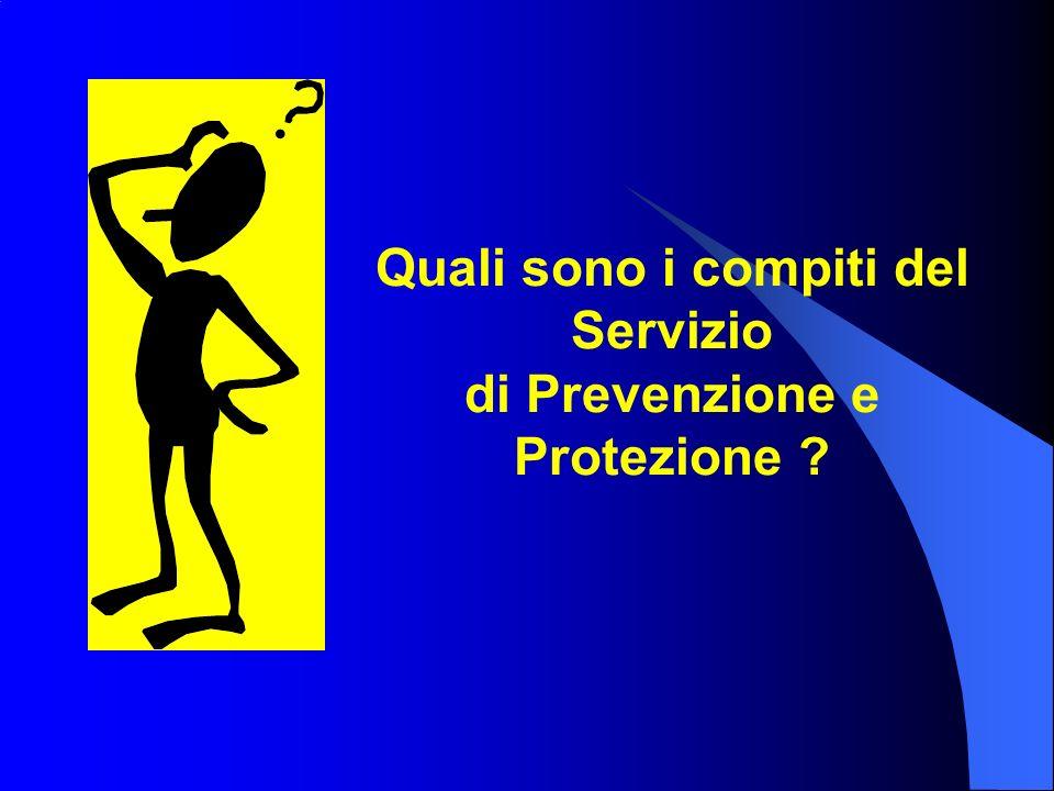Quali sono i compiti del Servizio di Prevenzione e Protezione