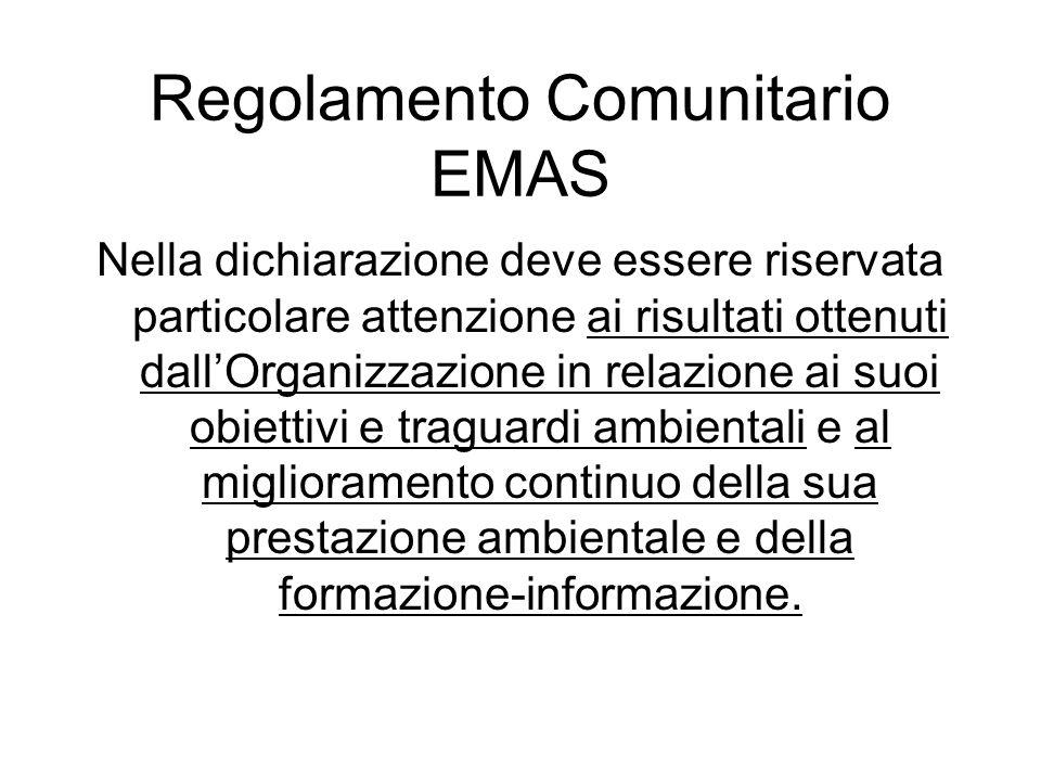 Regolamento Comunitario EMAS