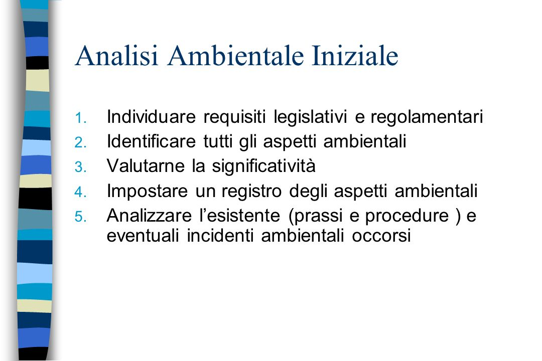 Analisi Ambientale Iniziale