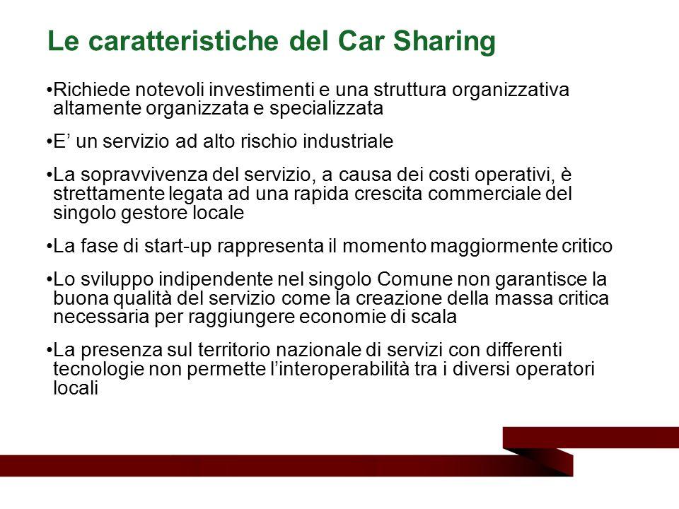 Le caratteristiche del Car Sharing