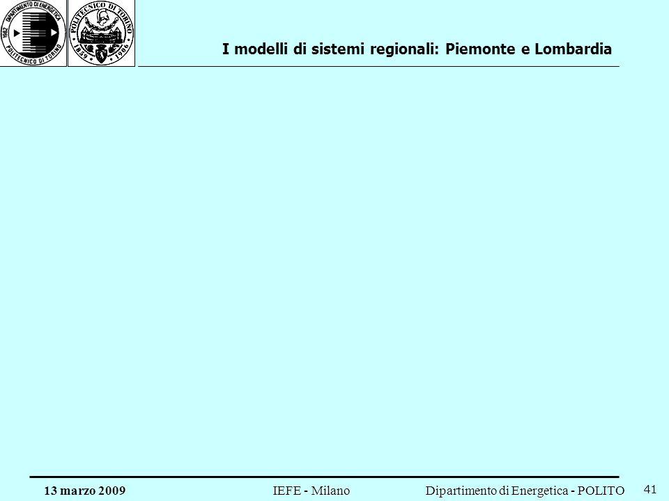 I modelli di sistemi regionali: Piemonte e Lombardia