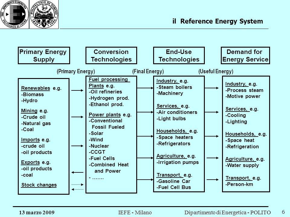 il Reference Energy System
