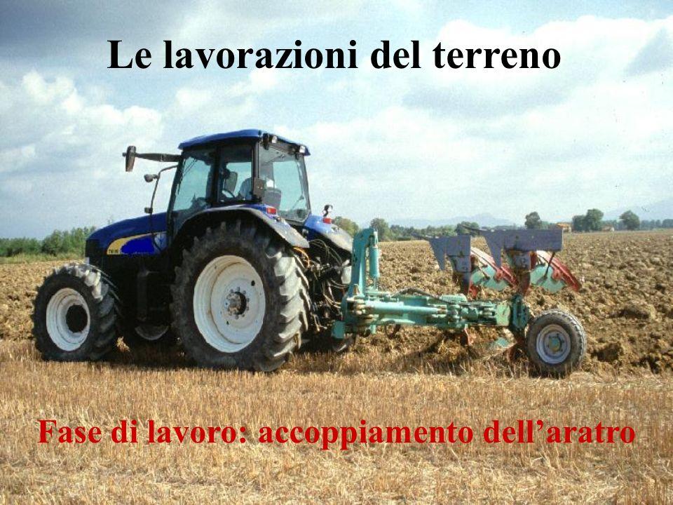 Le lavorazioni del terreno Fase di lavoro: accoppiamento dell'aratro