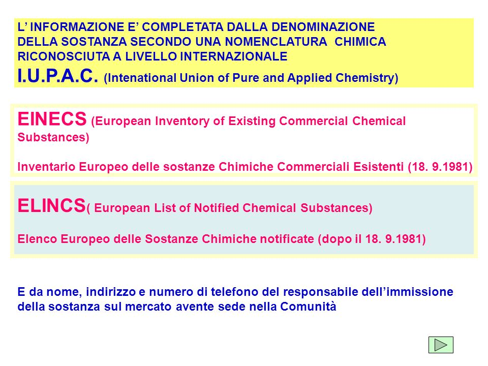 I.U.P.A.C. (Intenational Union of Pure and Applied Chemistry)