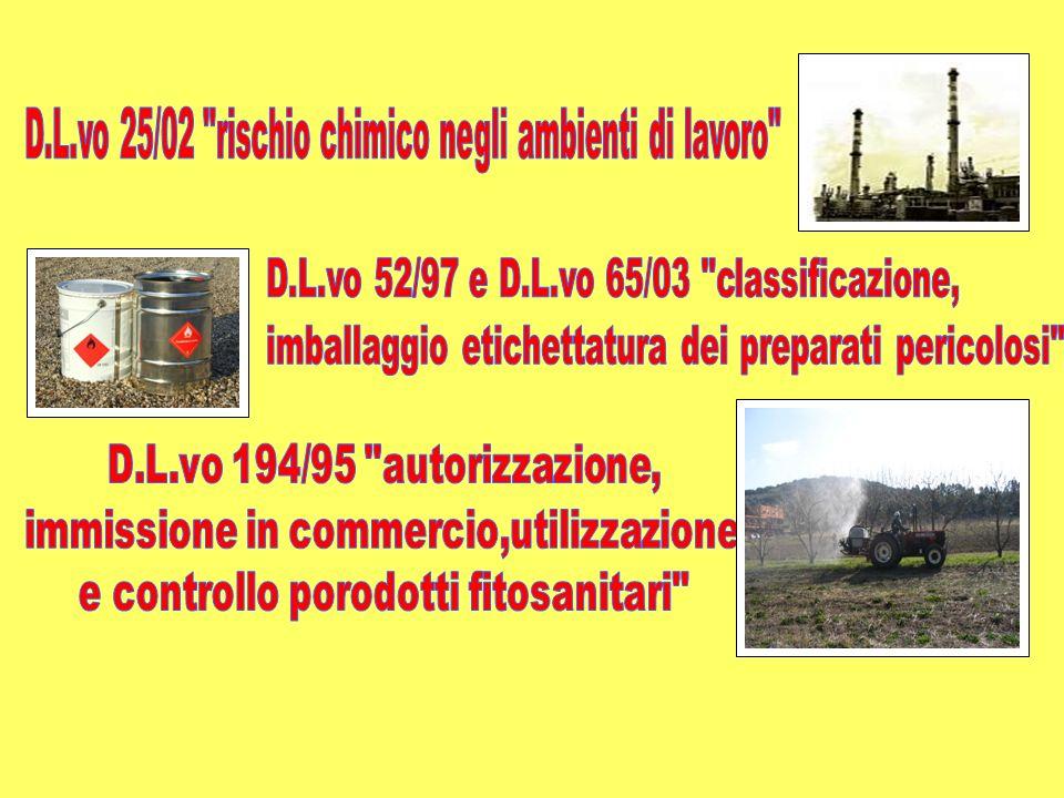 D.L.vo 25/02 rischio chimico negli ambienti di lavoro