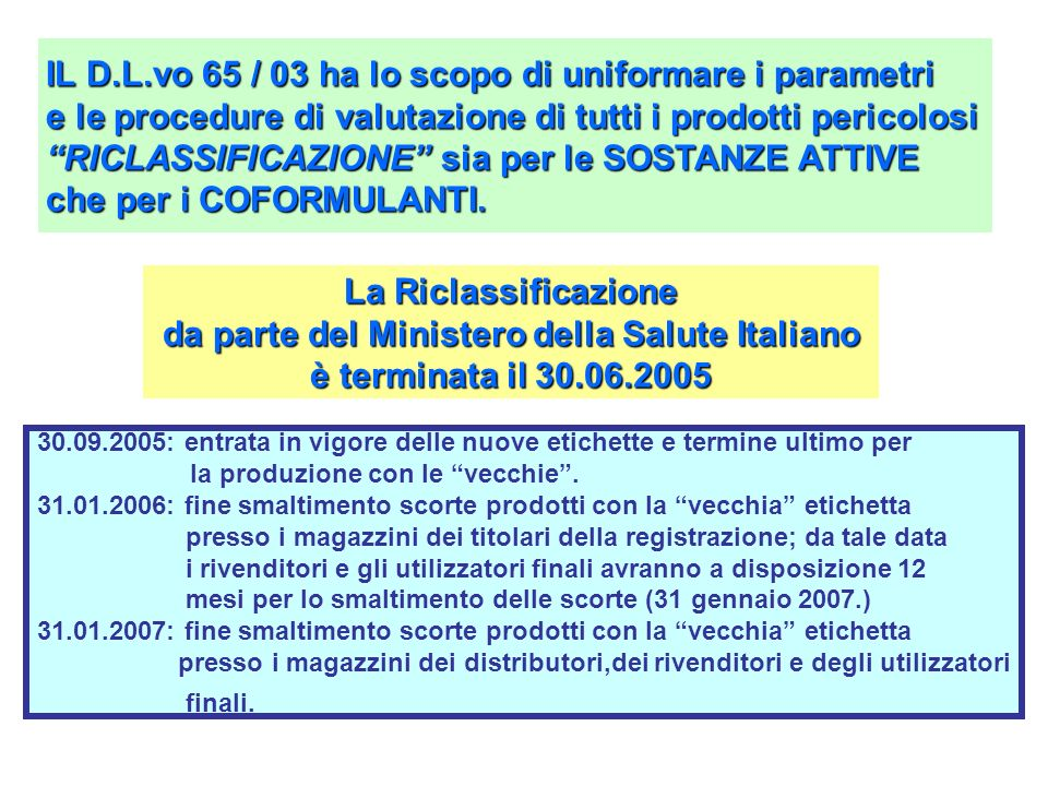 da parte del Ministero della Salute Italiano