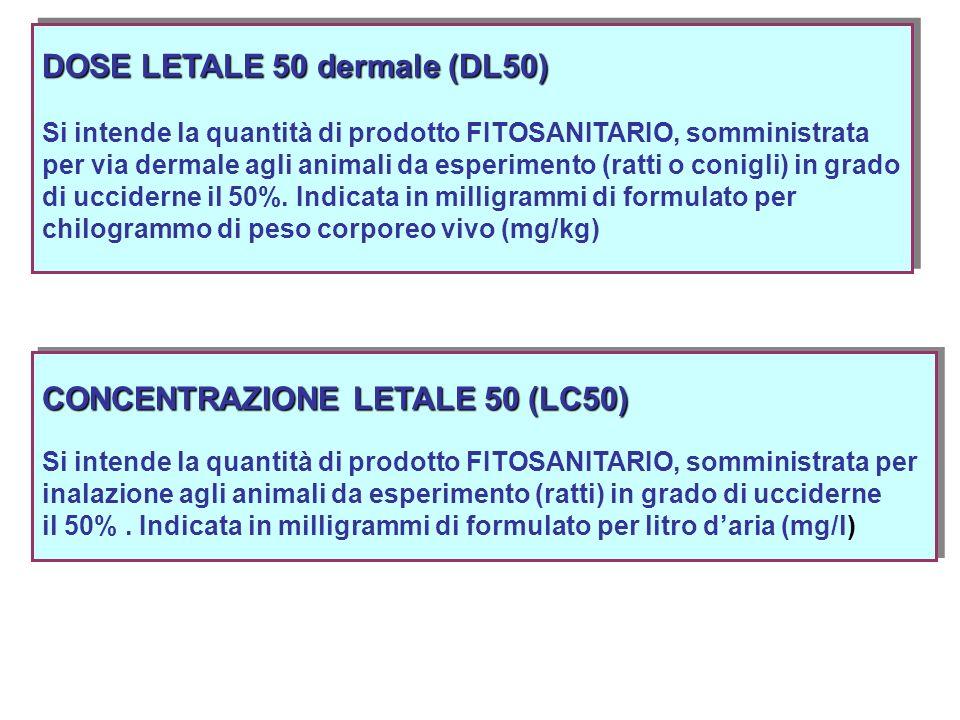 DOSE LETALE 50 dermale (DL50)