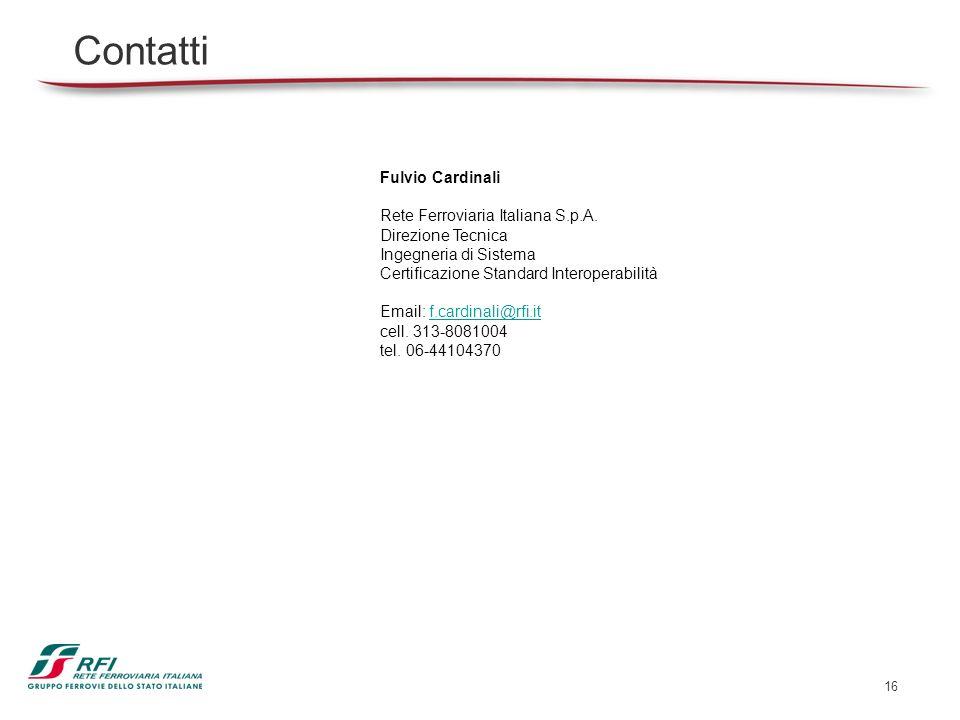 Contatti Fulvio Cardinali Rete Ferroviaria Italiana S.p.A.